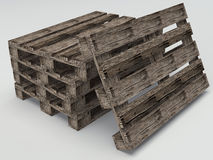 Pallet di legno del magazzino Immagine Stock Libera da Diritti