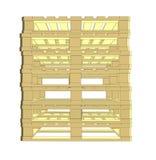 Pallet di legno Isolato su bianco Fotografia Stock