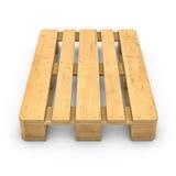 Pallet di legno isolato su fondo bianco illustrazione vettoriale