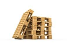 Pallet di legno isolato su fondo bianco royalty illustrazione gratis