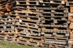 Pallet di legno rotti Fotografia Stock