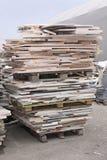 Pallet di marmo Fotografia Stock
