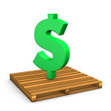 Pallet Dollar Royalty Free Stock Images