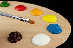 Pallet e colori Fotografia Stock