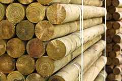 Pallet of fencing posts Royalty Free Stock Image