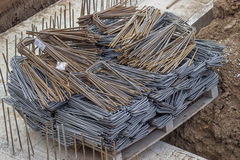 Pallet full of rusty rebar Royalty Free Stock Images