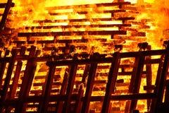 Pallet in fuoco Fotografie Stock Libere da Diritti