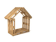 Pallet house Royalty Free Stock Photo