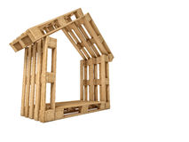 Pallet house Royalty Free Stock Photos