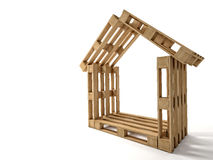 Pallet house Royalty Free Stock Photography