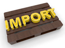 Pallet import concept Royalty Free Stock Images