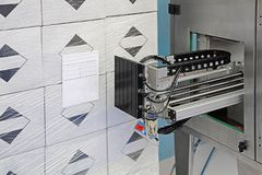 Pallet Labeling Machine stock image