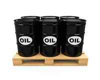 Pallet of Oil Drums Stock Photos