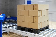 Pallet packer Royalty Free Stock Image