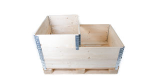 Pallet with pallet collars Royalty Free Stock Image