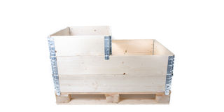 Pallet with pallet collars Royalty Free Stock Photo