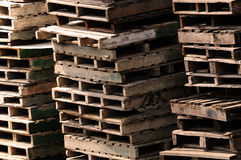 Pallet Piles. Image of old pallet piles background Stock Photography