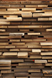 Pallet with rough sawn wood planks Royalty Free Stock Photo