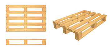 Pallet set Stock Image
