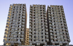 Pallet stack Stock Image
