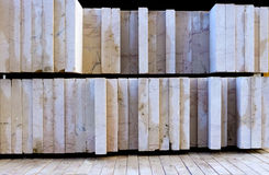 Pallet stone slabs cut and polished Royalty Free Stock Photography