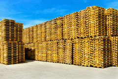 Pallet storehouse Royalty Free Stock Photography