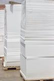 Pallet of styrofoam sheet insulation Stock Photography