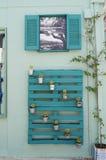 Pallet sulla parete Fotografia Stock Libera da Diritti