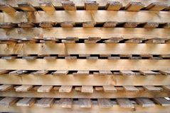Pallet for transport. Of goods and property cammion pine low cost Stock Image