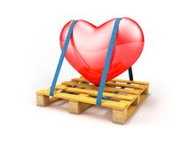 Pallet transport heart Stock Photos