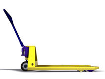 Pallet truck. Isolated on white background Royalty Free Stock Photos