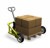 Pallet truck Stock Photo