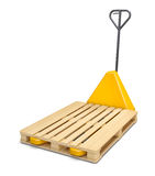 Pallet truck isolated on white Royalty Free Stock Image