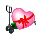 A Pallet Truck Loading A Big Heart Stock Photography