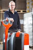 Pallet truck portrait Royalty Free Stock Photos