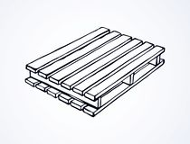 Free Pallet. Vector Drawing Royalty Free Stock Photos - 132190888