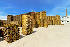 Pallet warehouse Stock Images