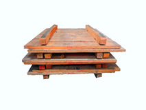 Pallet on the white background ,Material tool. Stock Photography