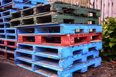 Pallet wood. Colorful of  pallets wood for transportation business Royalty Free Stock Photo