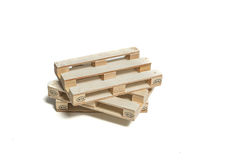 Pallet wood. (mini) on the white background Stock Photos