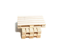 Pallet wood. (mini) on the white background Royalty Free Stock Image