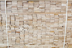 Pallet with wooden boards. For construction Stock Photography