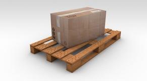 Pallete de madera ilustración del vector