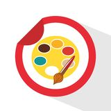Pallete icon. Design,  illustration eps10 graphic Stock Photos