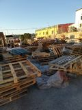 pallets stock foto