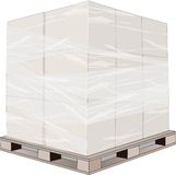 Pallets boxes box brown Royalty Free Stock Image