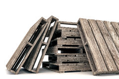 Pallets. 3d illustration of pallets isolated on white background Royalty Free Stock Photography