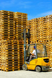 Pallets forklift Stock Photo