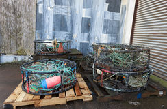 Pallets of industrial fishing gear. Stock Image