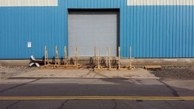 Pallets outside loading dock